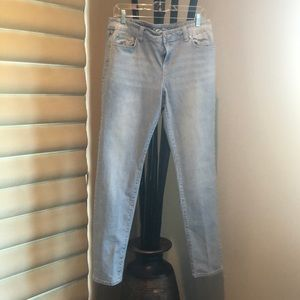 Inc denim pin stripped jeans
